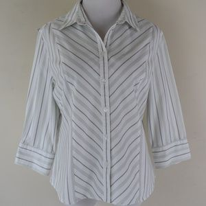 Mountain Lake Size Medium Striped Button Up Shirt